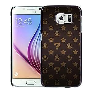 Hot Sale Samsung Galaxy S6 Cover Case ,Super Mario(1) Black Samsung Galaxy S6 Phone Case Unique And Fashion Design