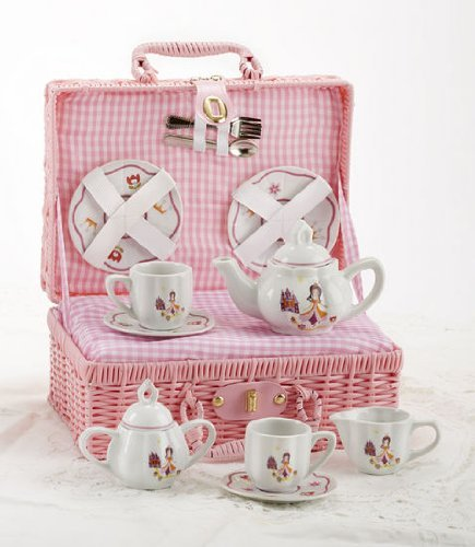 Children's Tea Set for 2 with Basket - Princess