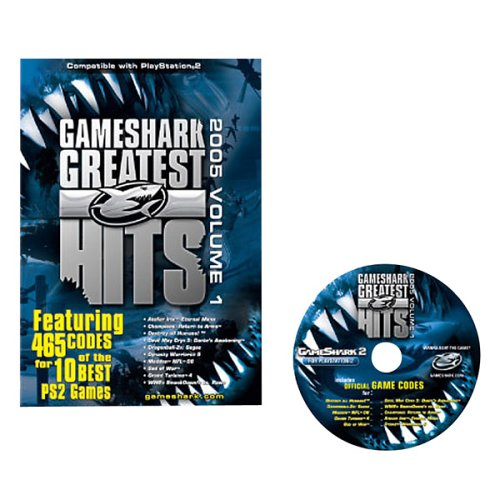 GameShark PS2 Greatest Hits: 465 Codes for 10 PS2 Games (2005, Volume 1) (Best Destroy All Humans Game)