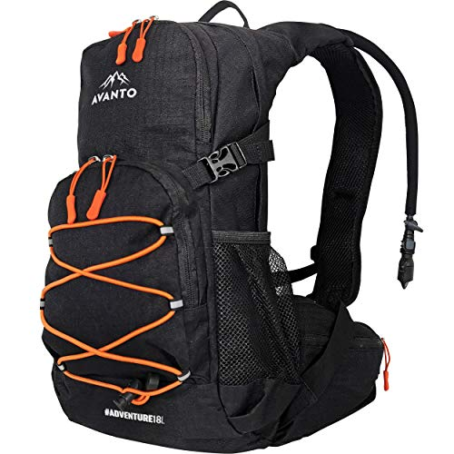 AVANTO Adventure 18L Hydration backpack, Waterproof with 2l Water Bladder, Aerodynamic For Bike, Hiking, Snowboarding, Ski, Running, Cycling, Water backpack for Motorcycle and Snowmobile, Day pack