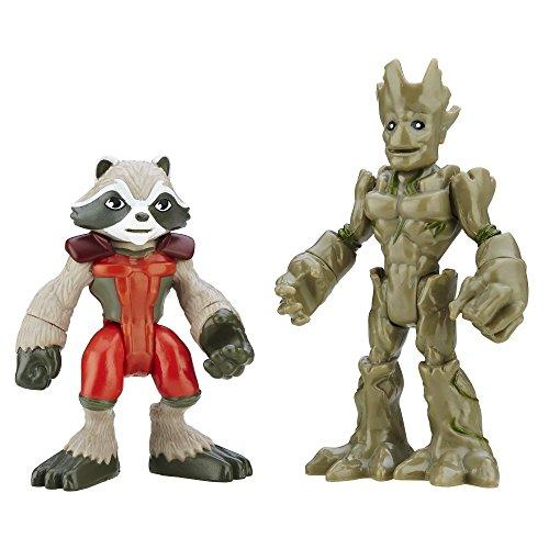 Playskool Heroes Marvel Super Hero Adventures Groot and Rocket Raccoon by Playskool