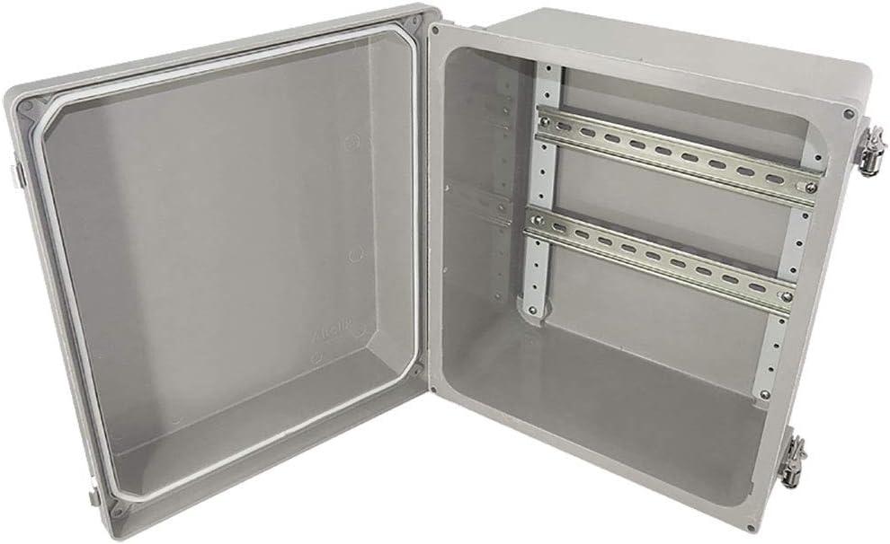 Altelix 14x12x8 Industrial DIN Rail Fiberglass Weatherproof Enclosure NEMA 4X IP66