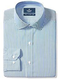 Men's Tailored Fit Gingham & Stripe Non-Iron Dress Shirt