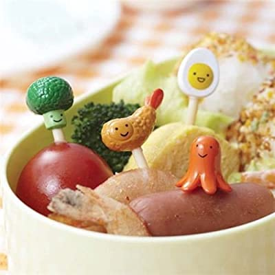 Bento food food picks for Bento Box Lunch Box shrimp egg: Kitchen & Dining