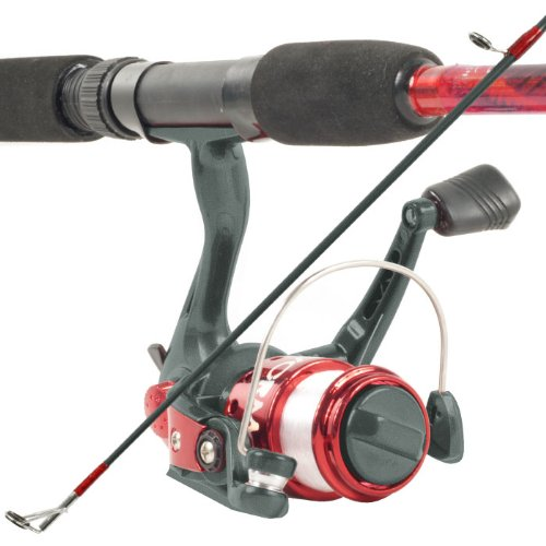 South Bend Worm Gear Spinning Fishing Combo – Red, Blue or Orange*, Outdoor Stuffs