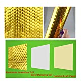 BXI Soundproofing Insulator- Noise Deadening Material for HAVC, Air Conditioner, Dog Crate - Acoustic Wrap - Mass Adder - Bee-hive Structure - Self-Adhesive Aluminum Foil - 11.4'' X 19.7'' (2 PACK)