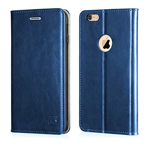 e95b132d00d Belemay iPhone 6s Case, iPhone 6 Case, Genuine Leather Case Slim Wallet,  Flip