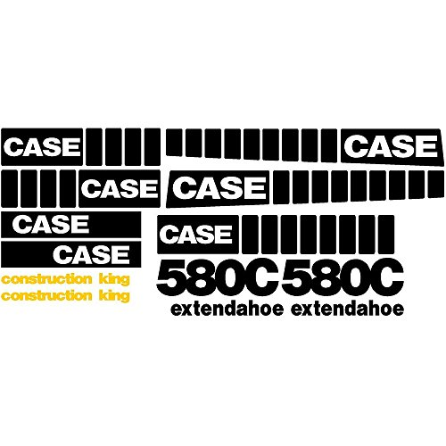 Whole Decal Set Made for Case 580C EXT Extendahoe Construction King Backhoe -