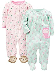 Simple Joys by Carter's Baby-Girls 2-Pack Cotton Snap Footed Sleep and Play