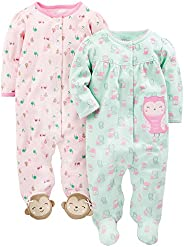 Simple Joys by Carter's Baby-Girls 2-Pack Cotton Snap Footed Sleep and