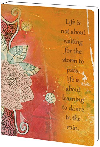 - Tree-Free Greetings Recycled Soft Cover Journal, Ruled, 5.5 x 7.5 Inches, 160 Pages, Dance In The Rain Themed Inspirational Quote Art (89154)