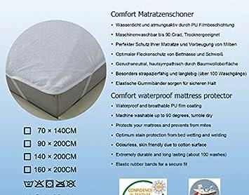 Kinderbett Matratzenschoner 70x140 Cm Wasserdicht Anti Milben Anti Bakteriel Oeko Tex100 Ware Matratzenschutz