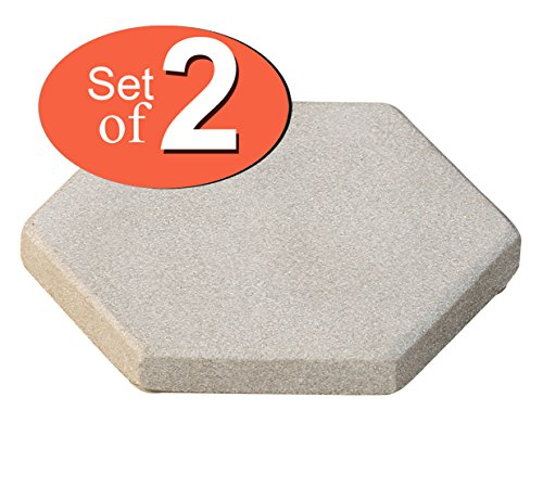 USE COUPON CODE Absorbent Sandstone Drink Coasters Set of 2 - Natural Moonlight-White Hexagonal Handmade Stone Beverage Coasters - 4 Inch - Sale on Bar Kitchen Dining Coasters / (Coupon Spirit Halloween)