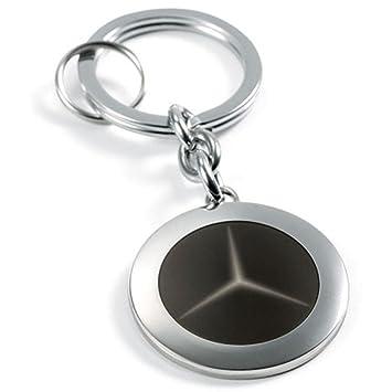 Amazon.com: Mercedes Benz vidrio Negro Cadena de clave ...