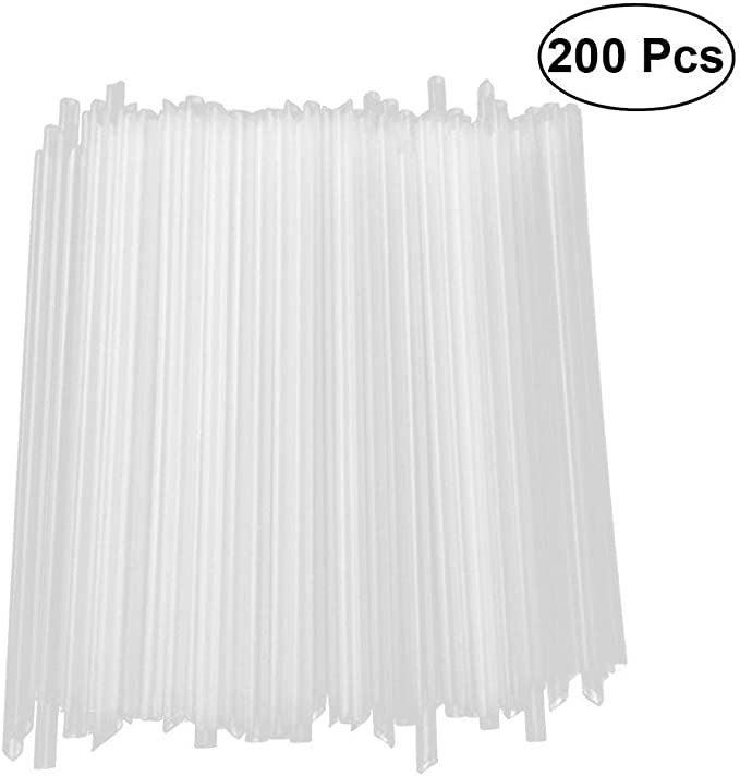 BESTONZON - Pajitas desechables de plástico comestible (200 ...
