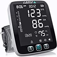LAZLE Blood Pressure Monitor - Automatic Upper Arm Machine & Accurate Adjustable Digital BP Cuff Kit - Lar