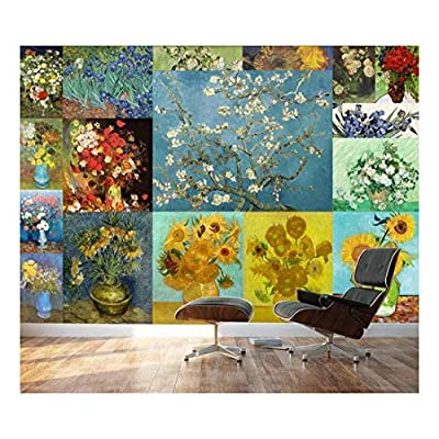 Grand Artistry, Peel and Stick Wallpapaer Famous Paintings Collage by Vincent Van Gogh Removable Large Wall Mural Creative Wall Decal, That You Will Love