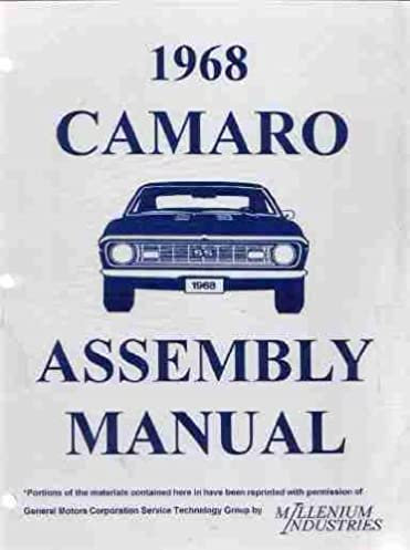 1968 chevrolet camaro factory assembly instruction manual includes rh amazon com 72 Camaro 71 Camaro
