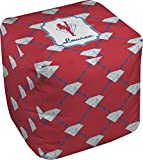 RNK Shops Red Diamond Dancers Cube Pouf Ottoman - 13'' (Personalized)