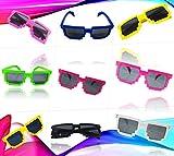 Play Kreative 6 Colorful Pixel Block 8 Nerd Geek Video Gamer Party Sunglasses