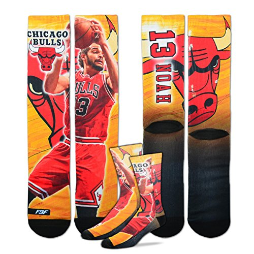 Derrick Rose Chicago Bulls NBA Player Sublimation Mesh Crew Socks ()
