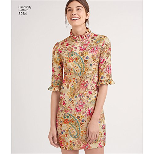Simplicity 8264 Women's Mini Dress, Shirt and Pants Sewing Patterns by Cynthia Rowley, Size 12-20