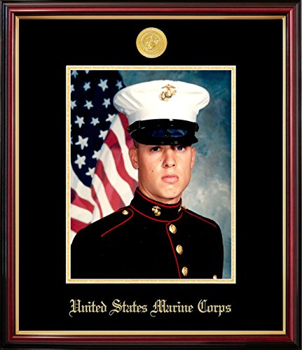 (Campus Images MAPPT001 Marine Portrait Petite Frame with Gold Medallion, 8