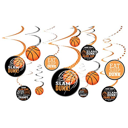 Basketball Birthday Decorations - Basketball Swirl Party