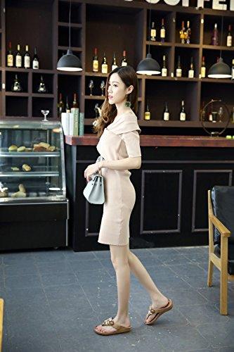 Delle Antiscivolo Estate Nuovi Marrone Pantofole Ed Di Xiaoqi Donne Boemia Per Accappatoi Interni Sandali Perline Esterni Con Moda 4qvwvI5
