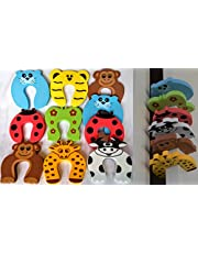 AZAMA 10pk Baby Safety Door Stopper | Children Cushion Colorful Animal Foam Finger Pinch Guard