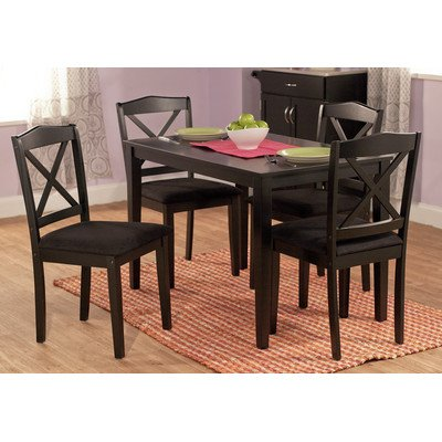 Mason 5 Piece Dining Set Finish: Black