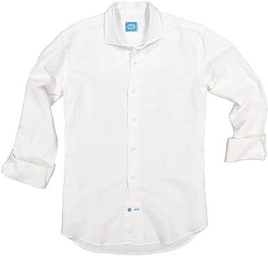 Panareha Camisa de Lino de Hombre Santorini Blanca: Amazon.es: Ropa y accesorios