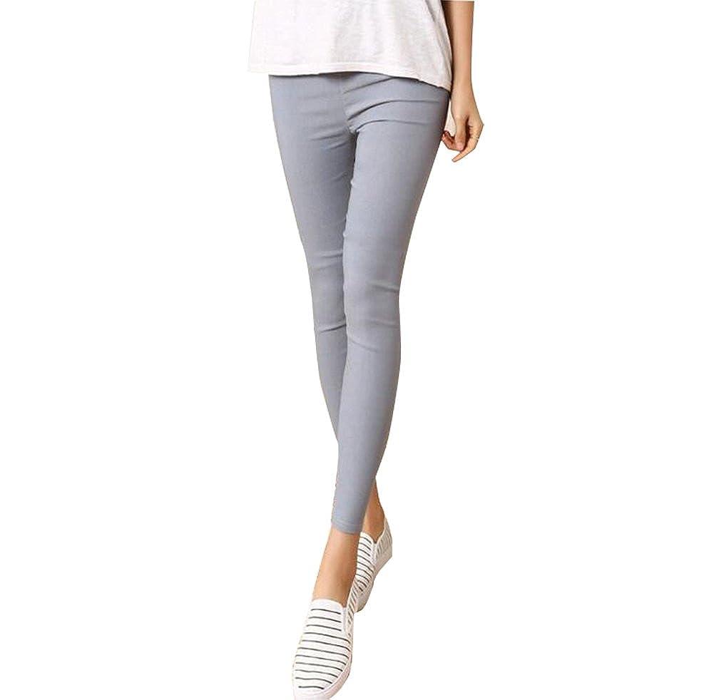 Baymate Cintura Alta Legging Elástica Pantalones Lápiz para Mujer