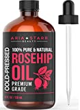 Rosehip Oil on Face Aria Starr Rosehip Seed Oil Organic Cold Pressed For Face, Skin & Scars - 100% Pure Essential Oil - 4oz