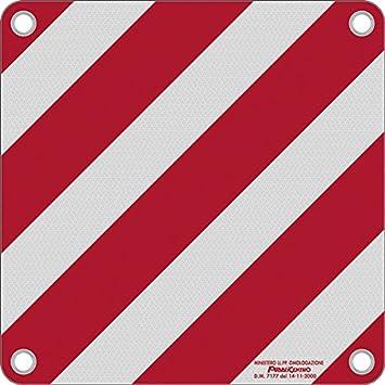 Warntafel Italien Aluminium Reflektierend 500x500mm Rot Weiß Baumarkt