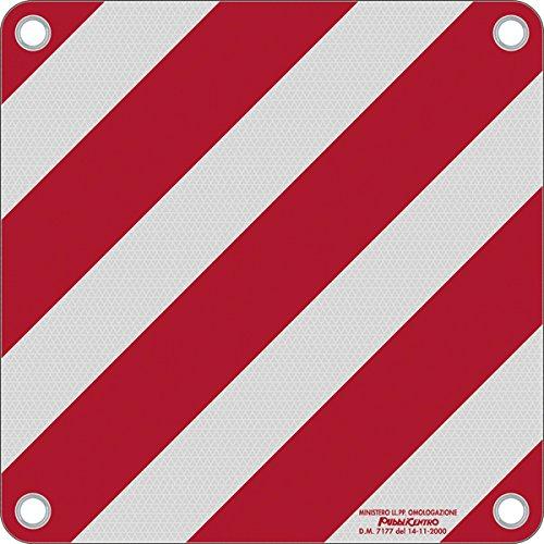 Warntafel Italien Aluminium reflektierend 500x500mm rot-wei/ß