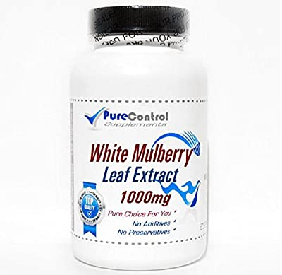 White Mulberry Leaf Extract 1000mg / 1% Alcaloids / 15% Flavonoids // 100 Capsules // Pure // by PureControl Supplements