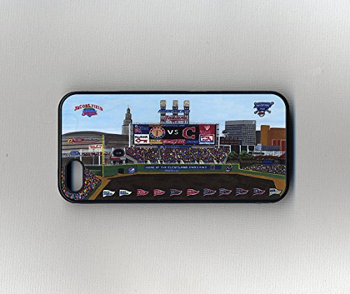 Cell Phone Case-Cleveland Baseball-Progressive Field-Cleveland Sports teams-Sports Team Stadiums-Cell Phone Cover-Cases for iPhone 4/4s,iPhone 5/5s,iPhone 6/6s,6+,iPhone 7,Samsung Galaxy S4, S5, S6 (Phone Progressive Cell)