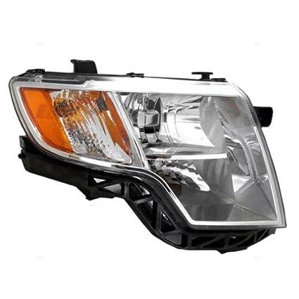 Ford Edge Headlights Assembly With Chrome Bezel Passenger Side Rh