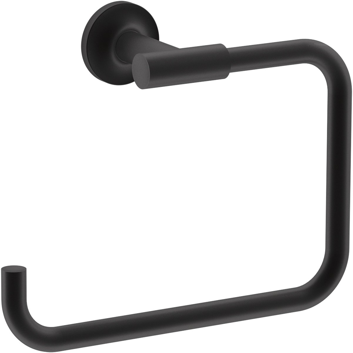 KOHLER 14441-BL Purist Towel ring, Matte Black