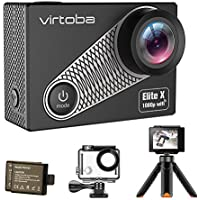 Action Camera, Virtoba by JVMAC Elite X iCatch SPCA6330M GC4603 2.0 Inch LCD Underwater Sport Camera WiFi 1080P 30FPS 170 Degree Wide Angle Waterproof - Black