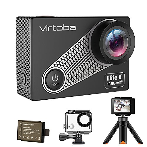 Action Camera, Virtoba by JVMAC Elite X iCatch SPCA6330M GC4603 2.0 Inch LCD Underwater Sport Camera WiFi 1080P 30FPS 170 Degree Wide Angle Waterproof - Black JVMAC