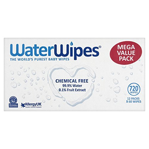 WaterWipes Sensitive Baby Wipes, Natural & Chemical-Free,( 720 Wipes) by WaterWipes