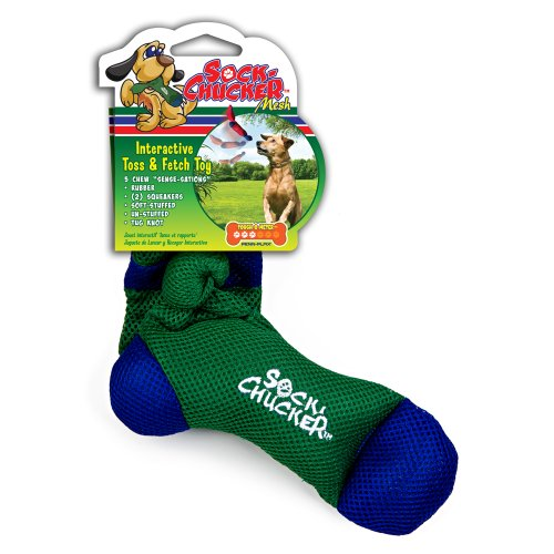 Sock Toy (Penn Plax Sock Chucker Dog Toy, Medium, Green)