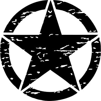 US Army Military Oscar Mike Jeep Car Wrangler Distressed Star Hood Sticker Decal