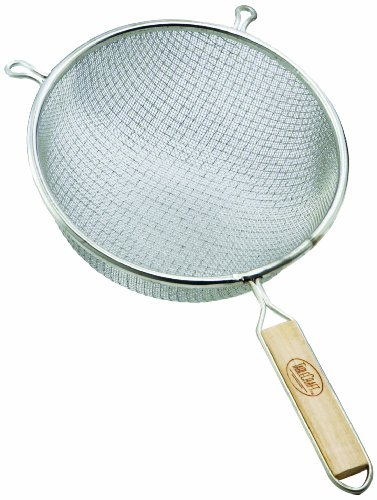 Tablecraft 86 Single Medium Mesh Strainer, 6-1/4-Inch, 1 Tinned/wood handles -