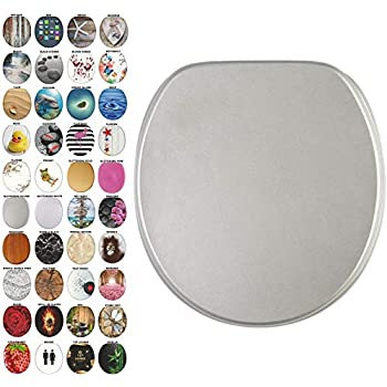 Amazon Com Ginsey Standard Resin Toilet Seat With Chrome