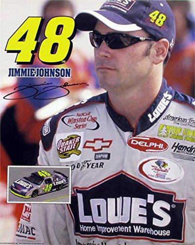 Autograph Warehouse 270555 Jimmie Johnson 8 x 10 in. Photo Auto Racing NASCAR No. 48 Facsimile Autograph