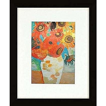 amazon com matte black gallery canvas depth matted wood frame 8x12
