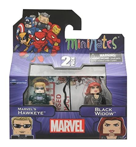 Marvel Minimates Series 17 Hawkeye and Black Widow by Diamond Select Toys (Marvel Minimate Black Widow)